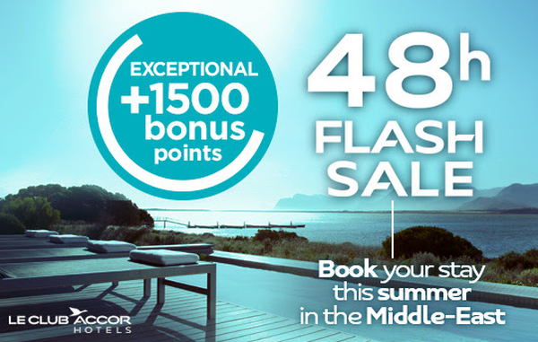 Le Club Accorhotels Middle East Flash 1500 Bonus Points