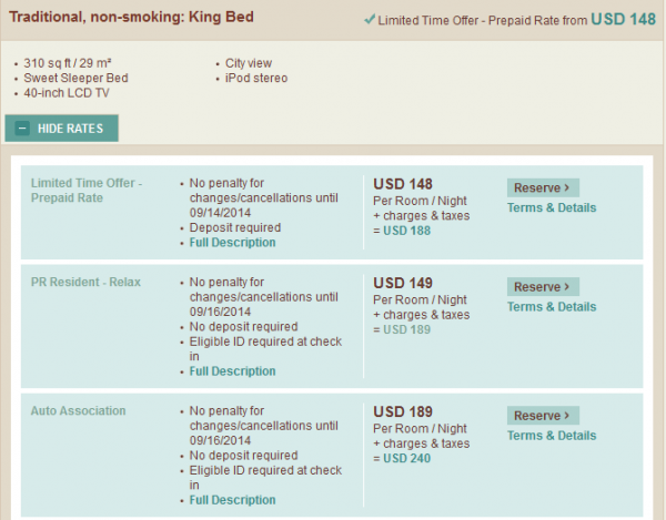 SPG Pay Your Age Sheraton Puerto Rico