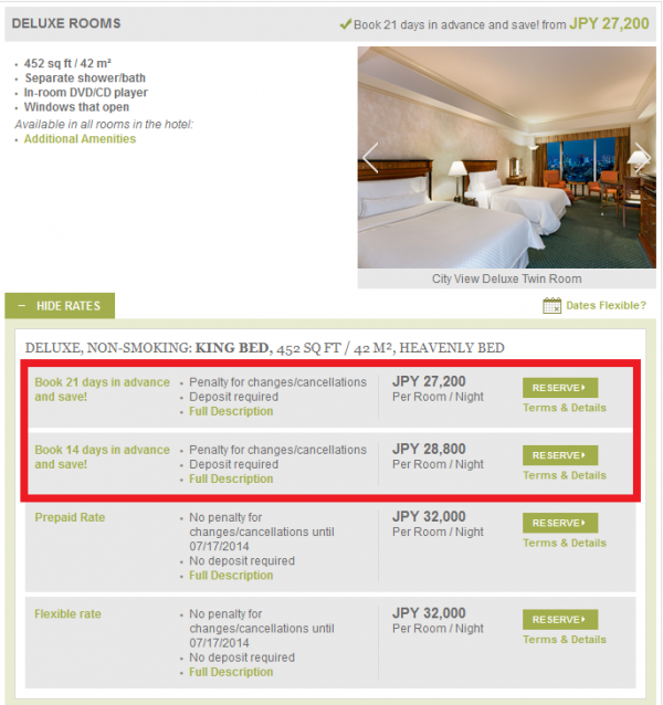Starwood Asia Pacific Red Hot Deals June 2014 Westin Tokyo