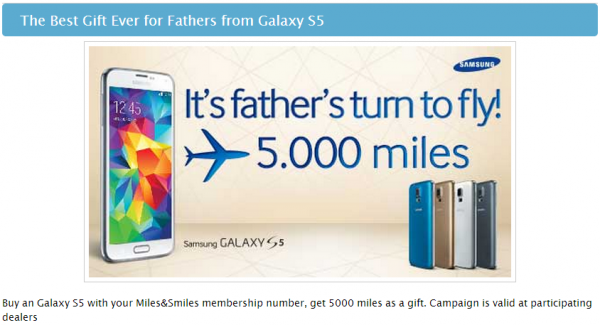 Turkish Airlines Miles&Smiles Galaxy 5 Fathers Day Offer