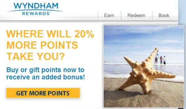 Wyndham Rewards Buy Points June 2014 Bonus