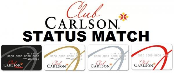 Club Carlson Silver Gold Concierge Status Match 2014