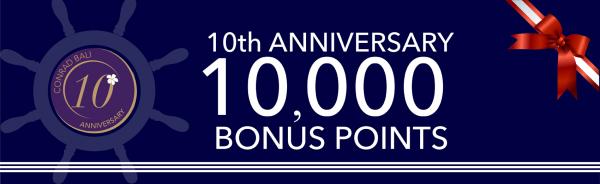 Conrad Bali 10th Anniversary 10,000 Bonus Points