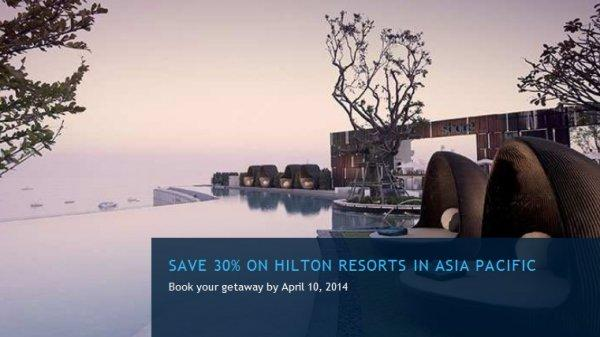 Hilton Resort Asia Sale Spring 2014