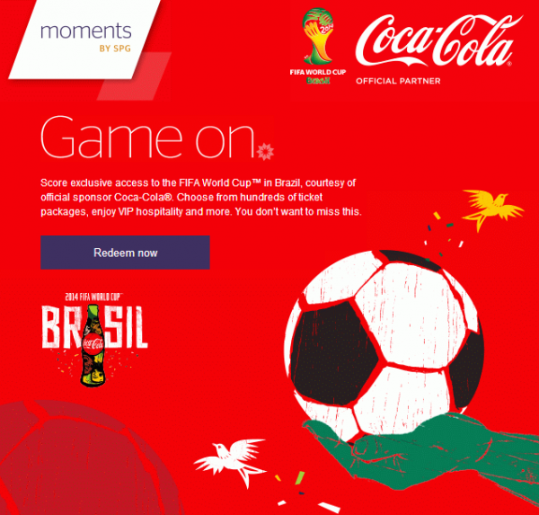 SPG Moments Brazil World Cup Coca Cola