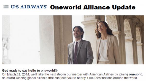 US Airways Oneworld Update