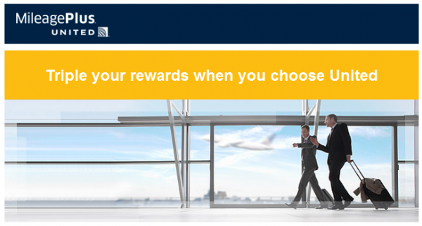 United Airlines MileagePlus Triple Miles Offer March 2014