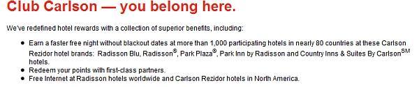 club-carlson-red-benefits