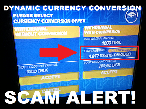 ATM Dynamic Currency Conversion Scam