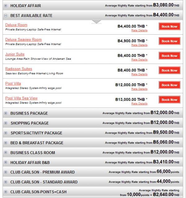 Club Carlson APAC 35 Percent Off Sale May 2014 Radisson Phuket 2