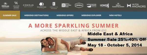Hilton Middle East Summer Sale 2014