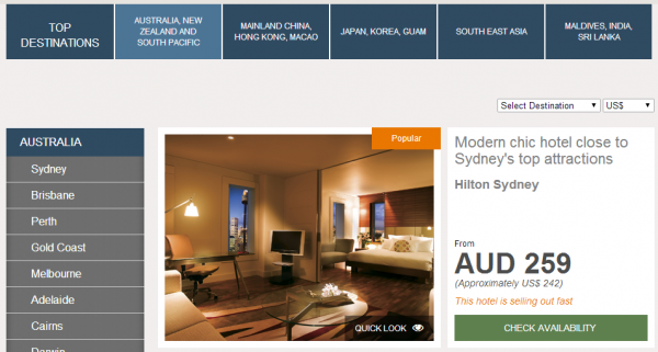 HiltonHotelDeals Southeast Asia Australia New Zealand South Pacific
