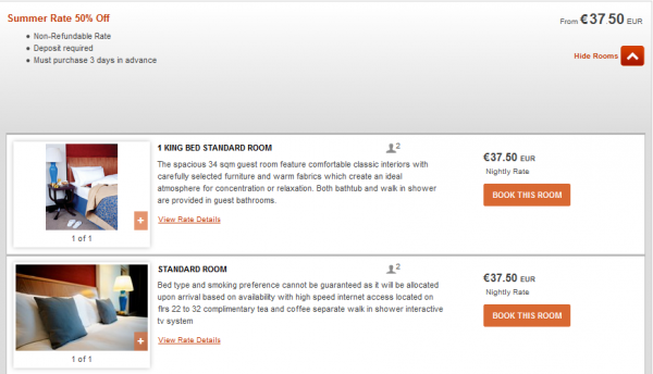 IHG Europe Summer 2014 50 Percent Off July 18 September 28 2014 IC Warsaw Rates