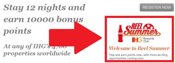 IHG Rewards Club Summer 2014 Stay Bonuses Welcome to Reel Summer