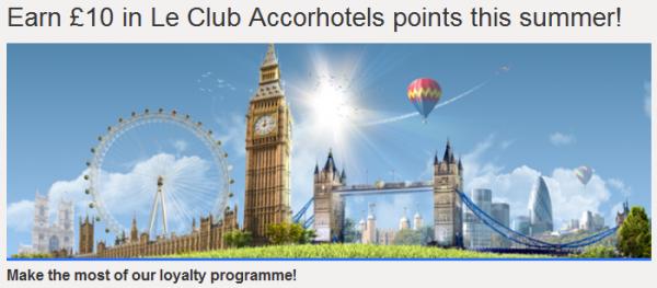 Le Club Accorhotels 575 Bonus Points In London May 1 August 31 2014