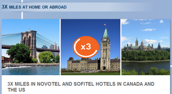 Le Club Accorhotels Aeroplan Triple Miles Offer