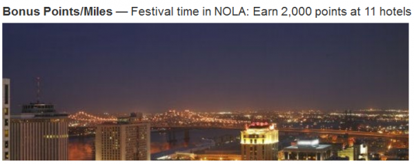 Marriott Rewards New Orleans 2,000 Bonus Points Offer