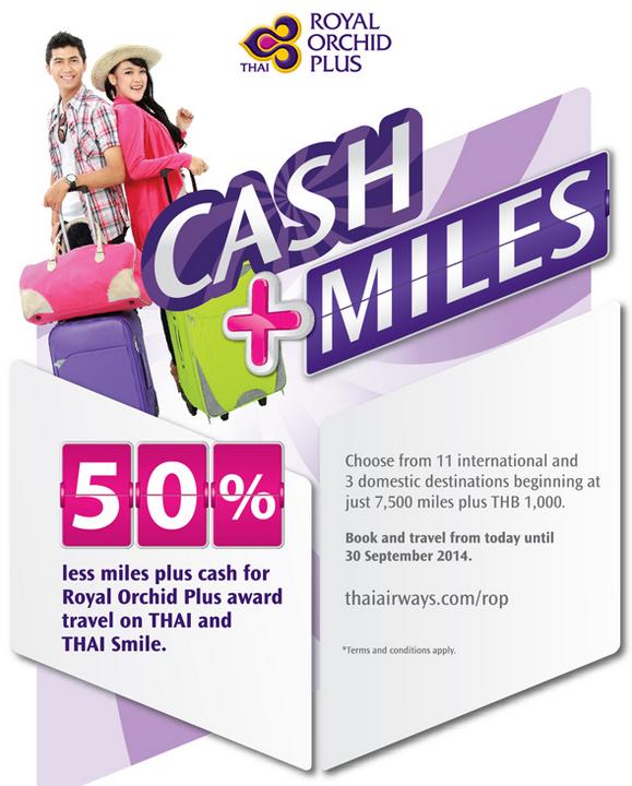 Thai Airways Royal Orchid Plus Cash + Miles