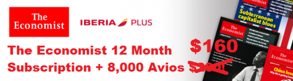 The Economist Iberia Plus 8000 Avios U