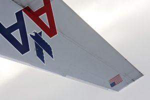 American Airlines Upside Down