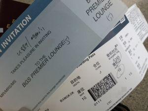 SriLankan Airlines Boarding Pass And Lounge Invitation