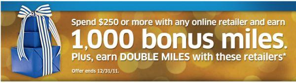 United Airlines Mileage Plus Online Shopping Holiday Bonus