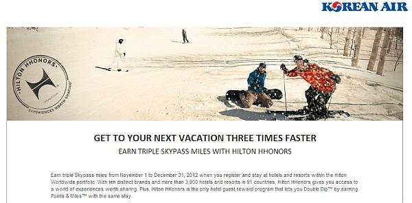 hilton-hhonors-korean-air-skypass-triple-miles