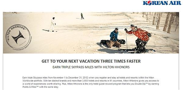 hilton-hhonors-korean-air-skypass-triple-miles