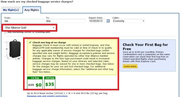 United Airlines Reduces Star Alliance Gold Checked Baggage Allowance ... b1a0d09db23ed