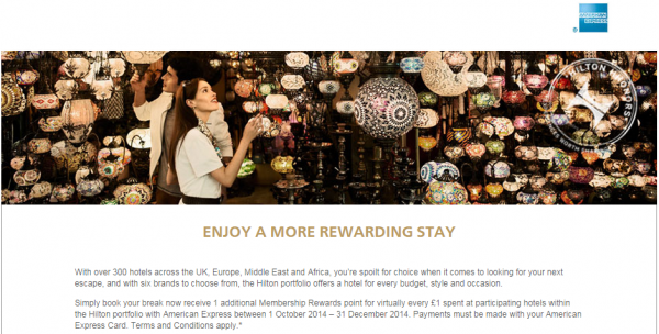 Hilton HHonors Amex American Express UK & Germany Promotion