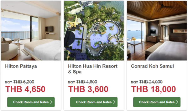 Hilton HHonors Thailand 25 Percent Off Sale 3