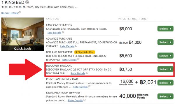Hilton HHonors Thailand 25 Percent Off Sale Conrad Bangkok