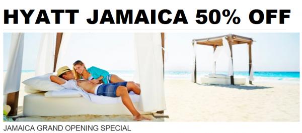 Hyatt Gold Passport Jamaica Grand Opening Special