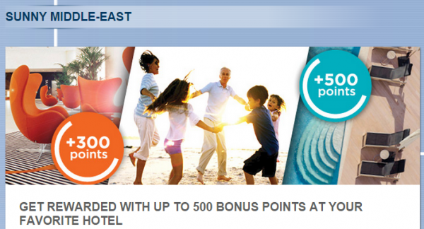 Le Club Accorhotels Middle East Bonus Points Offer Fall 2014