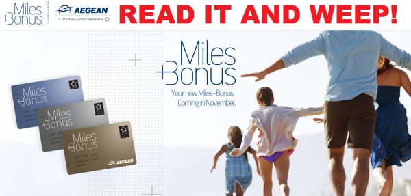 Aegean Miles&Bonus Changes 2014
