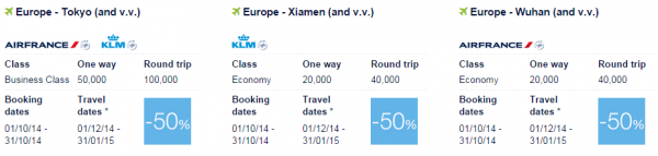 Air France-KLM Flying Blue Promo Awards Asia Pacific 3