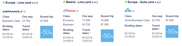 Air France-KLM Flying Blue Promo Awards Central And South America 1