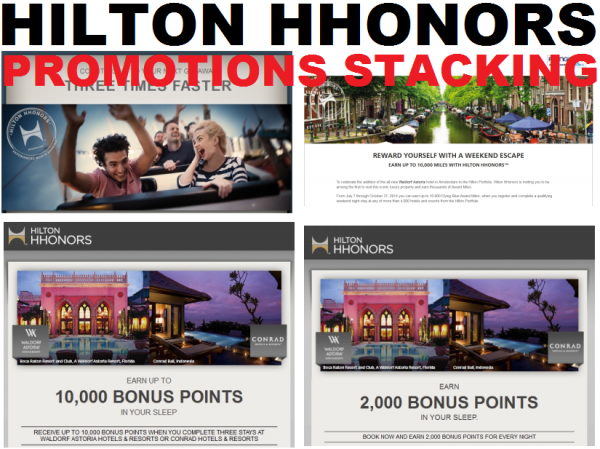 Hilton HHonors Promotions Stacking