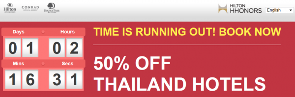 Hilton Thailand Flash Sale