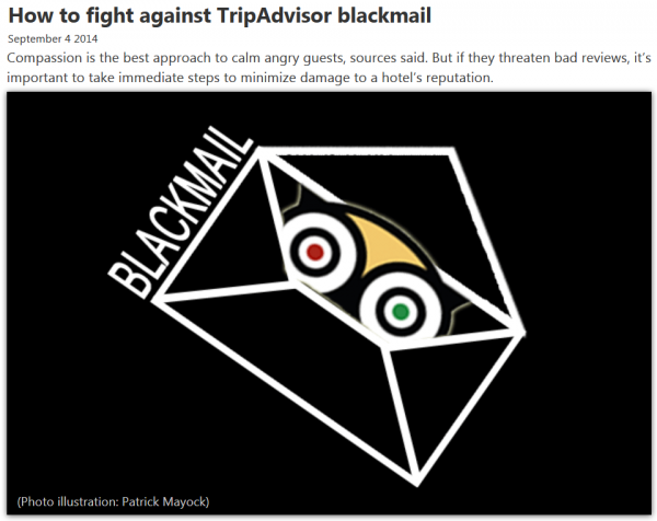 HotelNewsNow How to fight against TripAdvisor blackmail