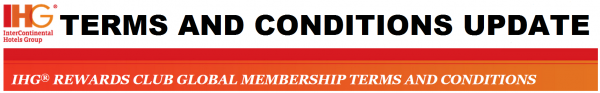 IHG Rewards Club Global Terms and Conditions Update September 2014