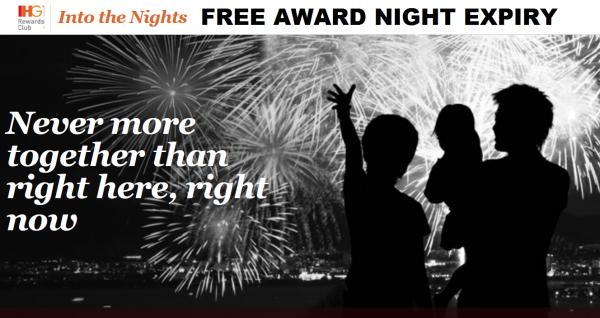 IHG Rewards Club Into The Nights Award Night Expiry