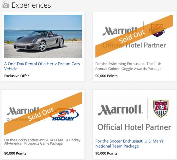 Marriott FlashPerks Week 9 Experiences