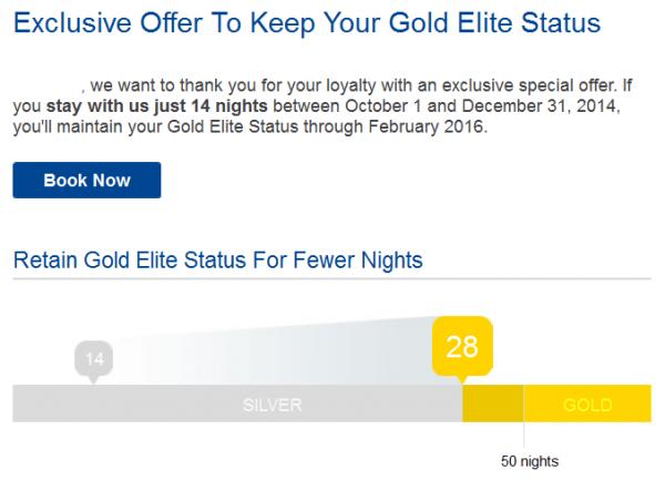 Marriott Rewards Offer To Keep Status