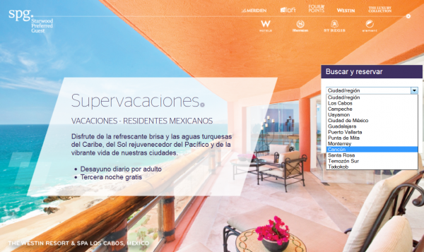 Starwood Preferred Guest SPG Mexico Residents Rate Plan