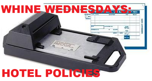 Whine Wednesdays Hotel Policies