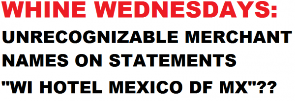Whine Wednesdays Merchant Names