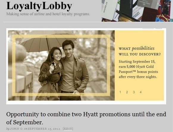First Post on LoyaltyLobby in September 2011