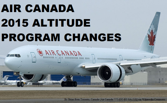 Air Canada Aeroplan Altitude Changes 2015