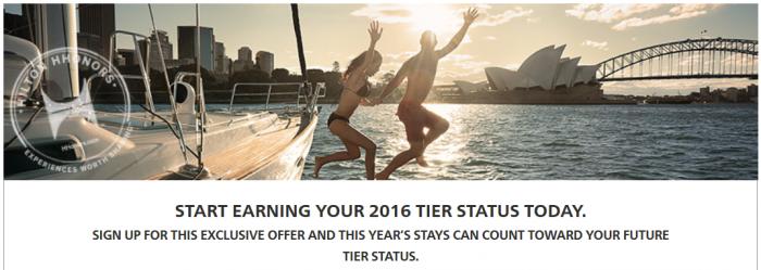 Hilton HHonors Status Jump Star Rollover Credit Fall 2014